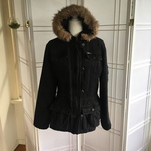 DKNY Black Twill Jacket XL